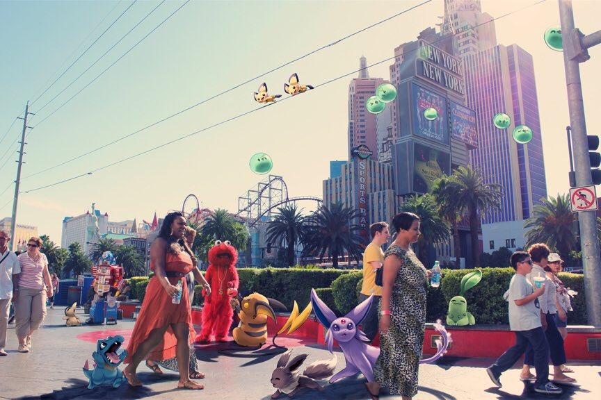 Pokémon Go Nintendo app Las Vegas