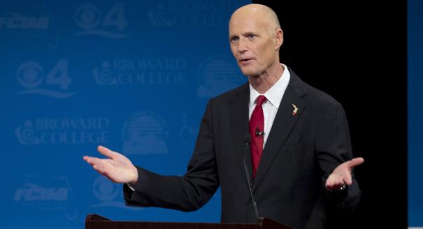 Florida card games Governor Rick Scott