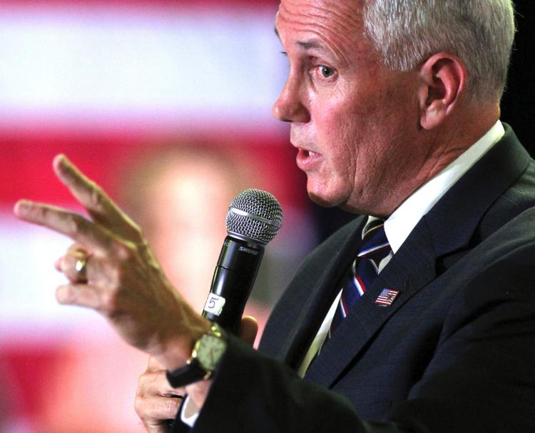 Mike Pence Nevada stump gambling stance
