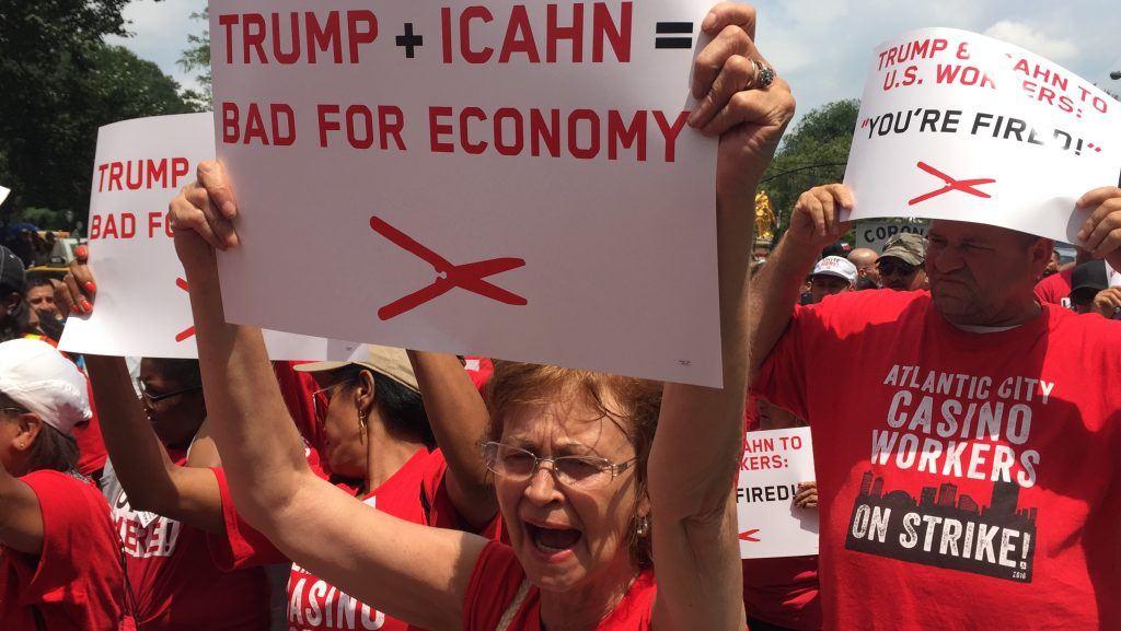 Trump Taj Mahal strike walkout Atlantic City