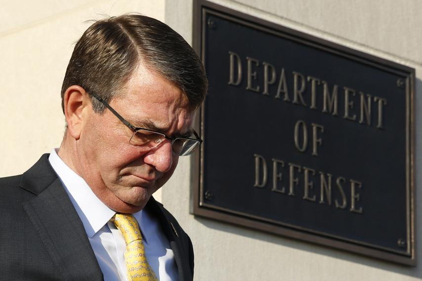 US Defense Department Ash Carter gambling strip clubs