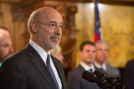 Pennsylvania towns casino tax Tom Wolf