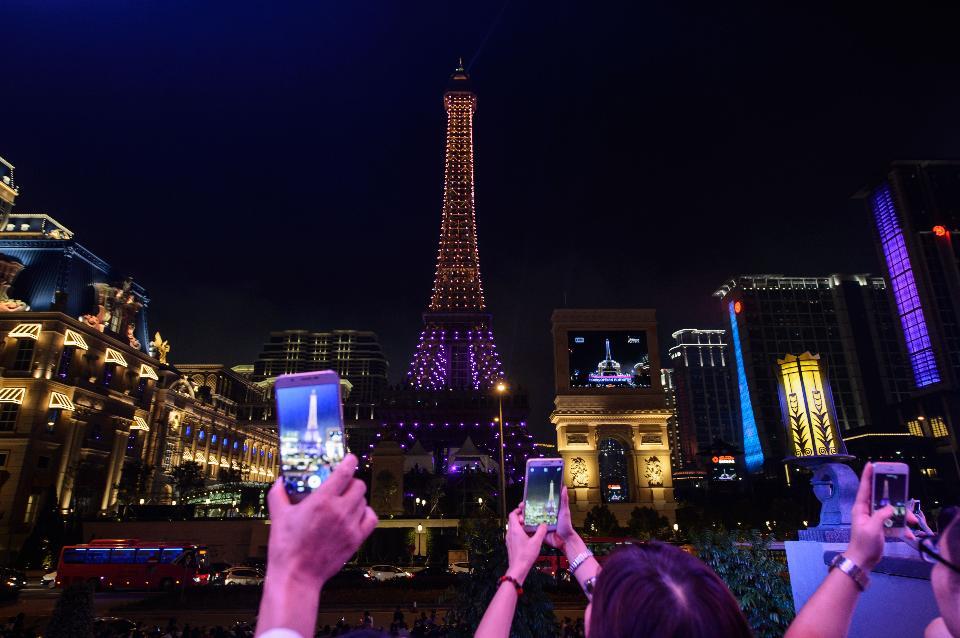 Macau gambling casino revenue Parisian