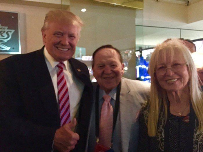 politics and gaming Sheldon Adelson Donald Trump