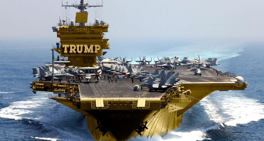 Donald Trump USS Enterprise fake news