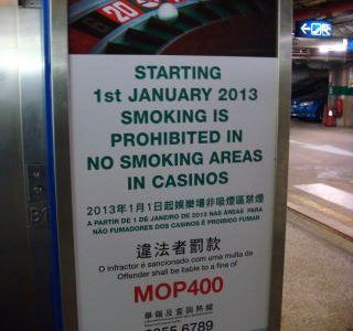 casino smoking Macau fines