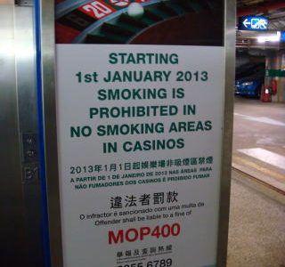 casino smoking Macau fines
