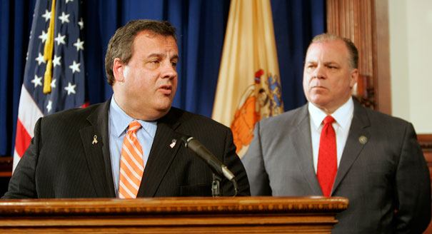 Chris Christie and Steve Sweeney clash over vetoed Icahn bill.