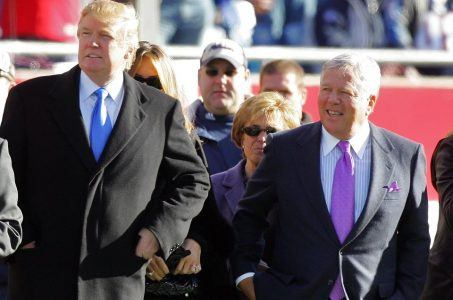 President Trump Robert Kraft Super Bowl LI