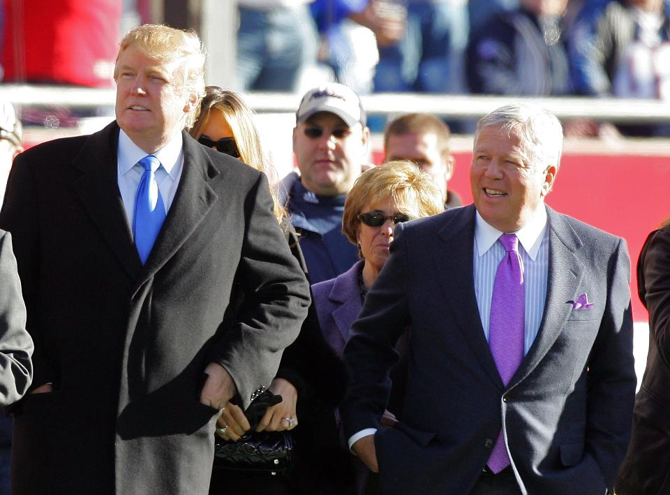 President Trump Robert Kraft Super Bowl LI