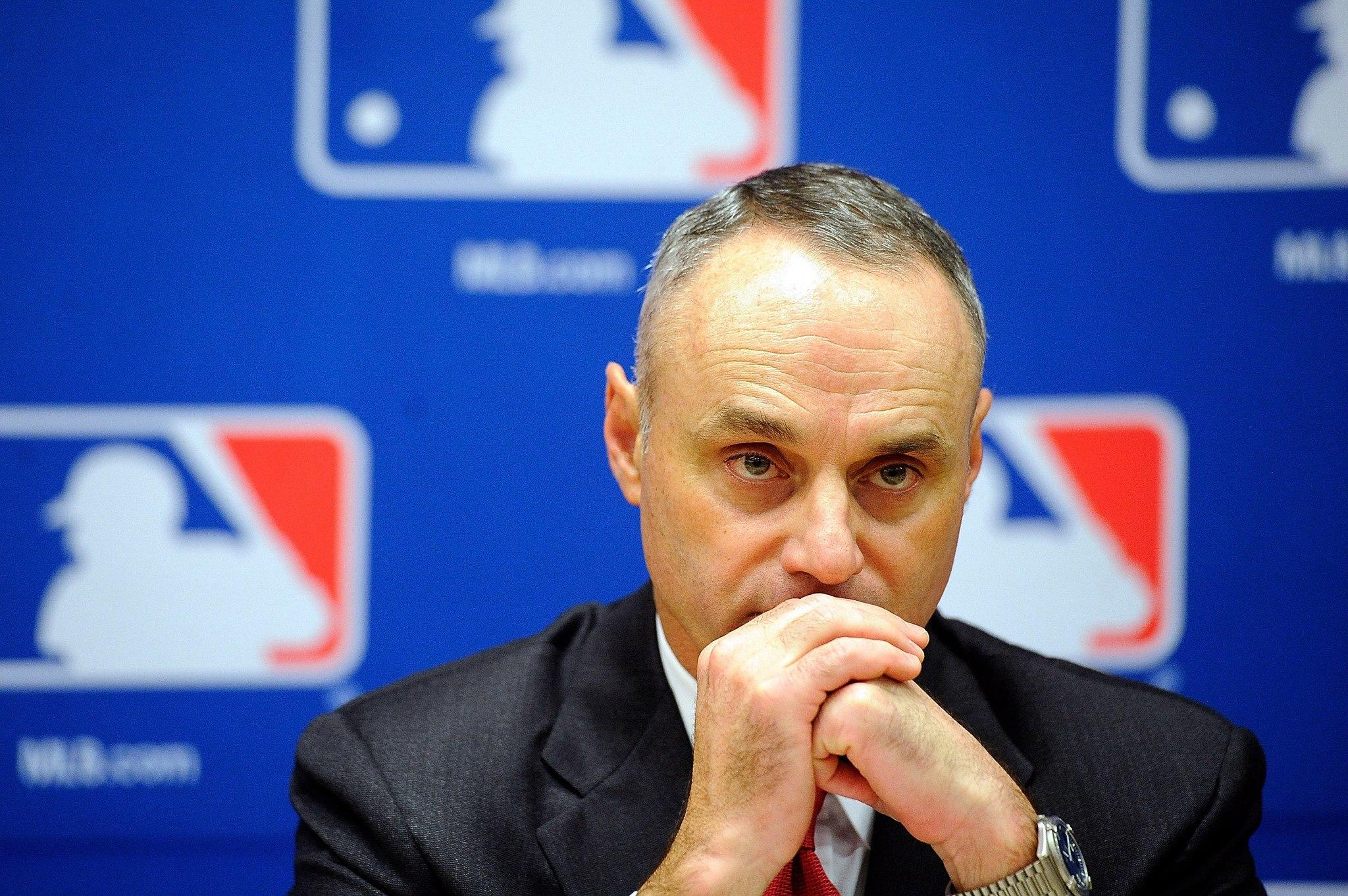 Major League Baseball Rob Manfred sports gambling