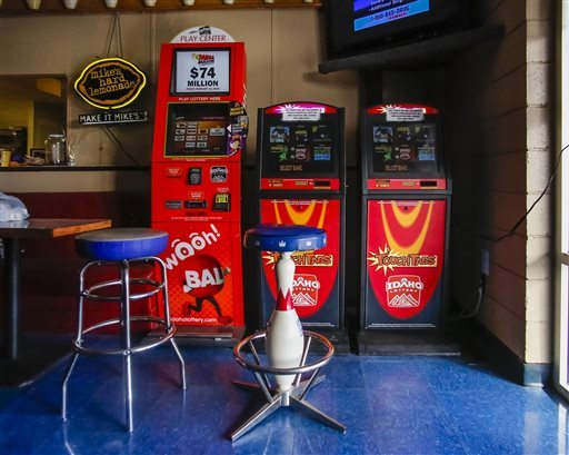 Idaho Lottery gambling machines