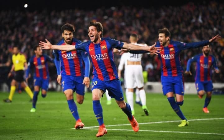 Sergi Roberto scores winning goal against PSG