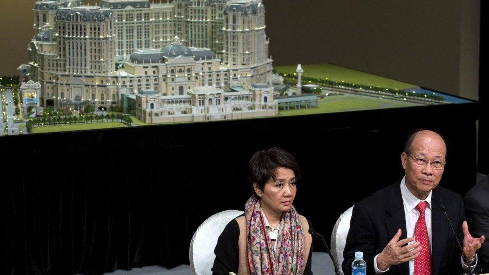 Macau hotel room Lisboa Palace