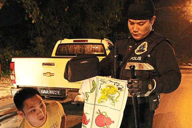 Sarawak illegal gambling raids