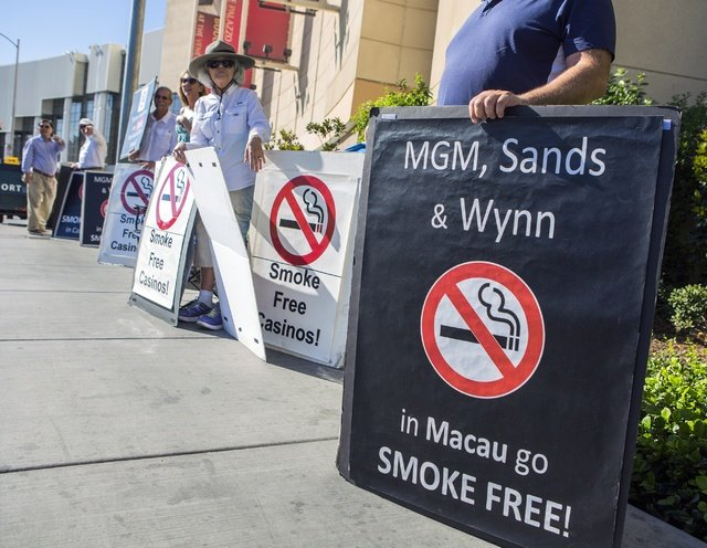 Macau casinos smoking ban lounges