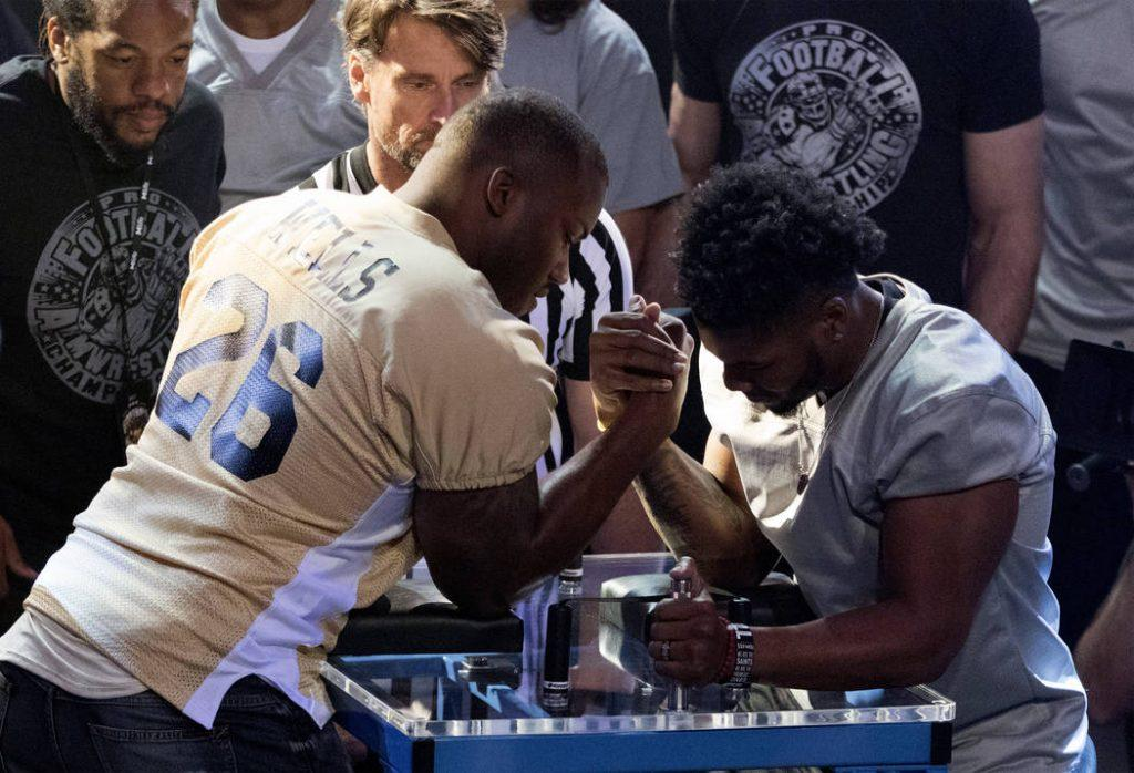 Jamon Brown and Howard Jones at the Pro Football Arm Wrestling Championship at the MGM Grand
