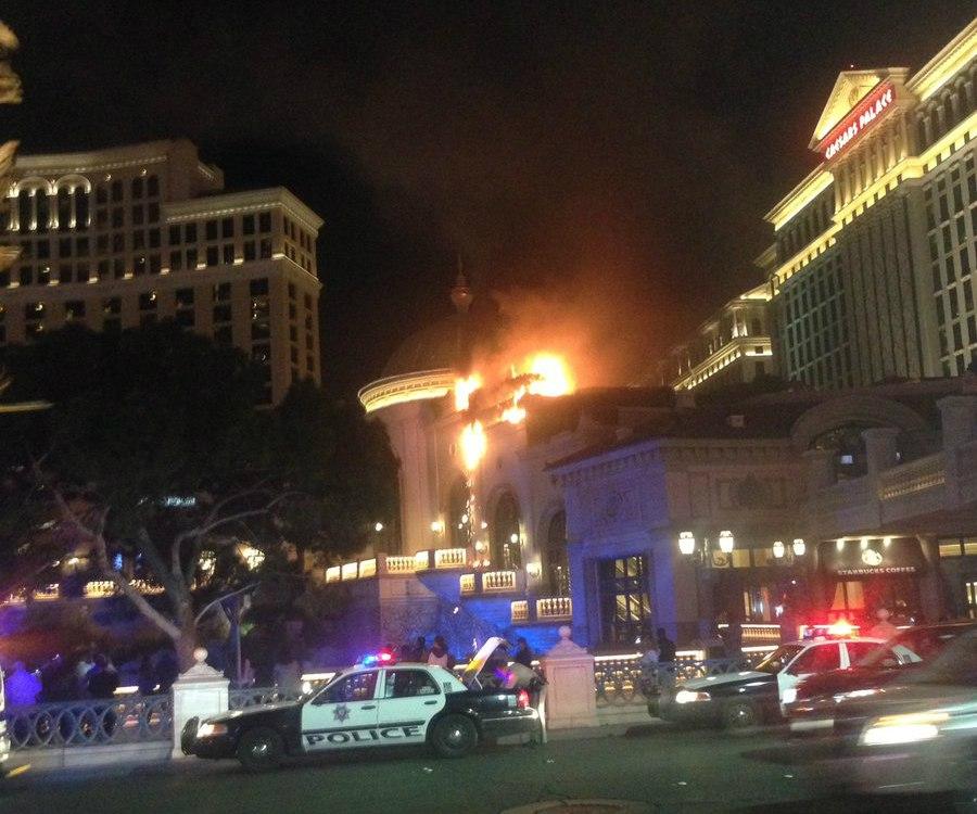 Bellagio roof fire Las Vegas