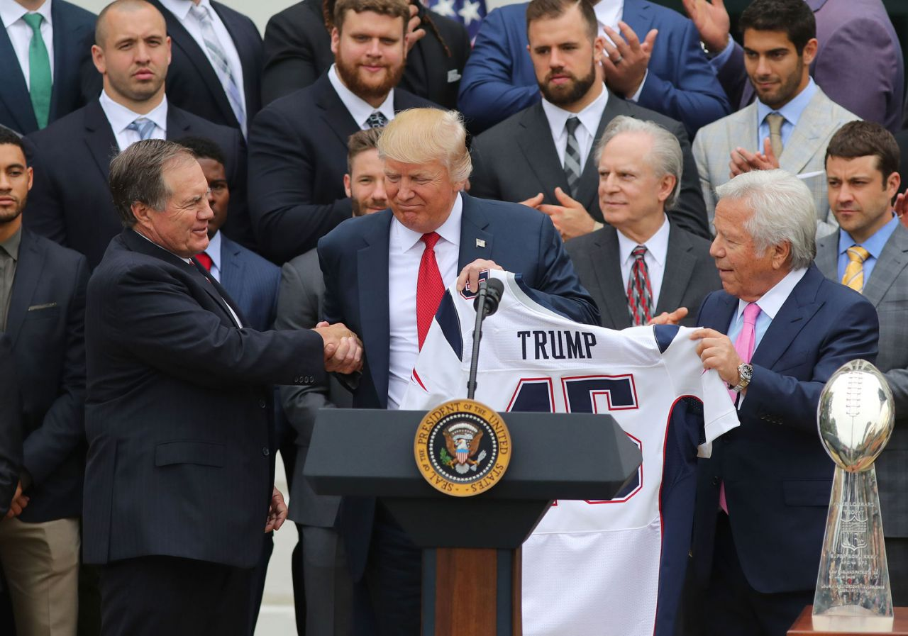 New England Patriots Donald Trump