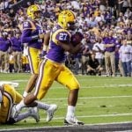 LSU Running Back Arrested for Illegal Gambling, Offense Pales Compared to Other Gridiron Stars