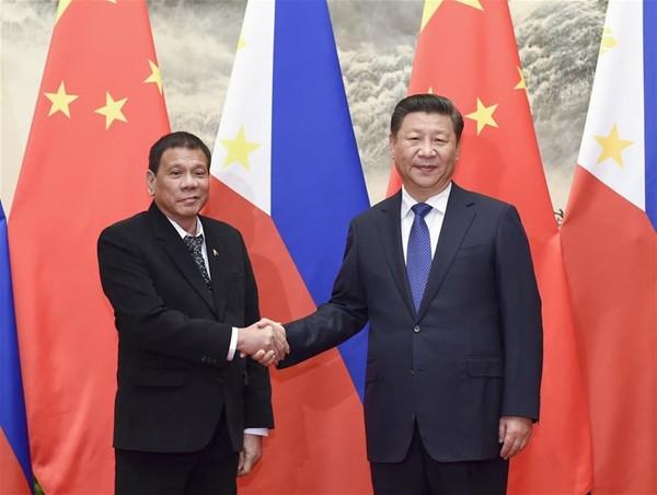 Philippine President Rodrigo Duterte meets Chinese President Xi Jinping