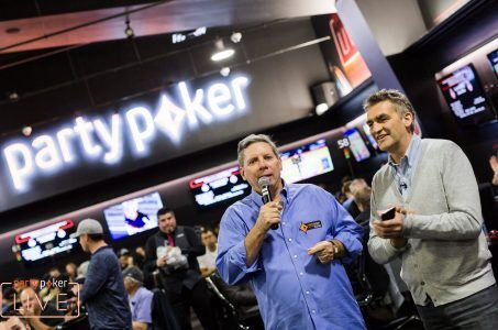 Mike Sexton and John Duthie at partypoker