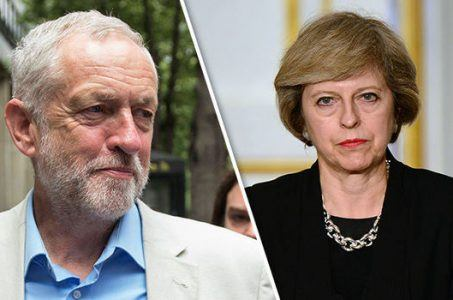 Jeremy Corbyn and Theresa May face off in UK election.