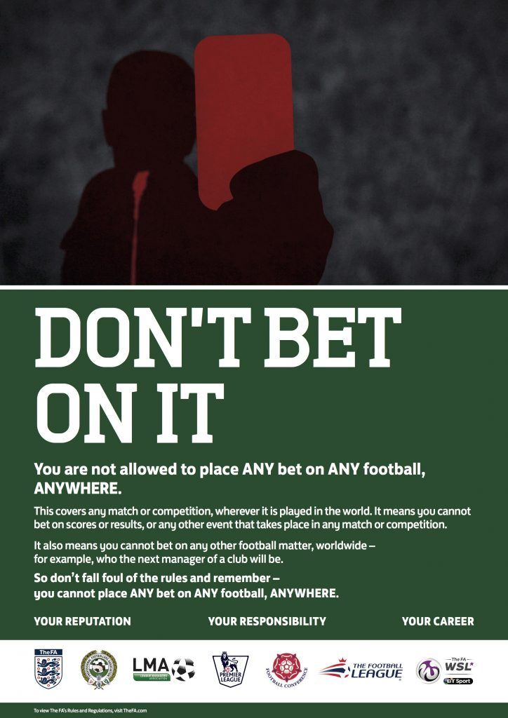 """FA poster """"Don't Bet on It"""""""