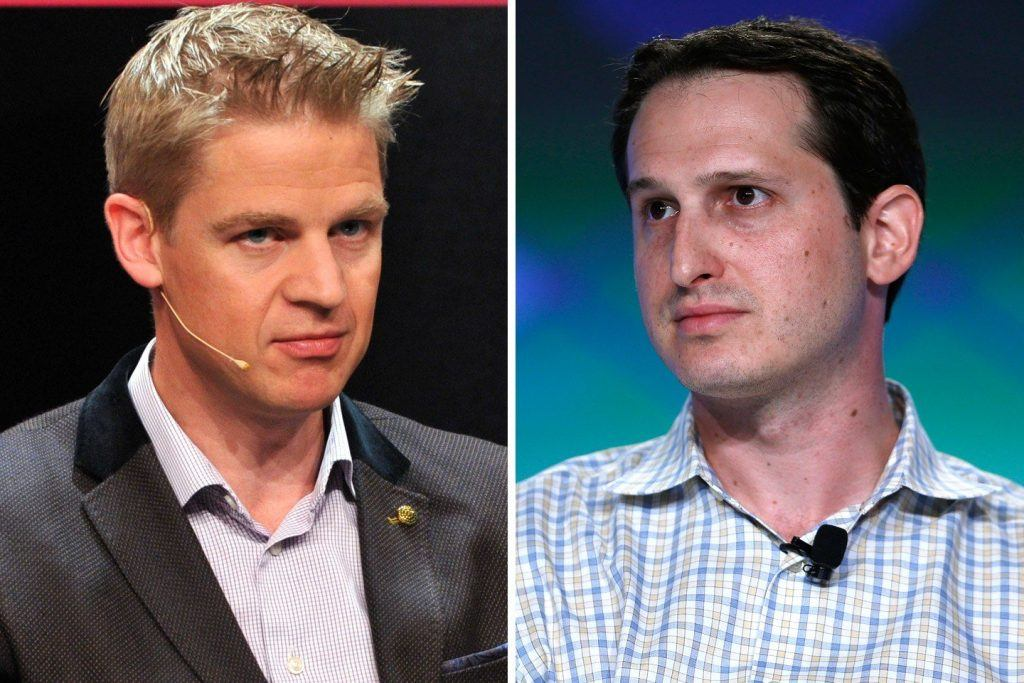 FanDuel CEO Nigel Eccles (left) and DraftKings CEO Jason Robins (right)