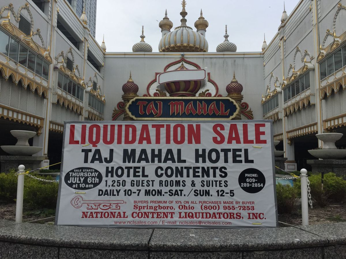 Trump Taj Mahal Liquidation Sale Underway, Casino Relics Up for Grabs