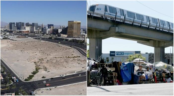Homeless camps Las Vegas Oakland