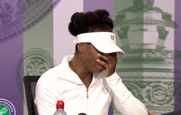 Venus Williams in tears at Wimbledon