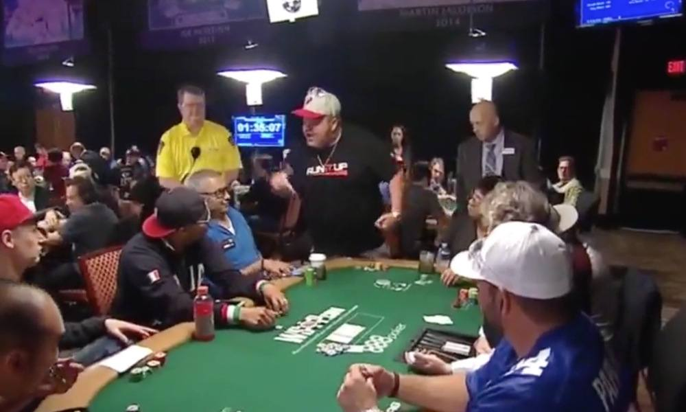 WSOP Main Event 2017 player fight