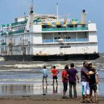 Goa's MV Lucky 7 floating casino gets stuck on sandbank