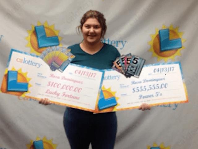 Rosa Dominguez wins lottery twice in a week