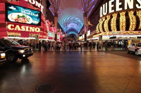 Fremont Street Experience barrier security