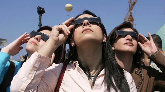 Solar eclipse Las Vegas