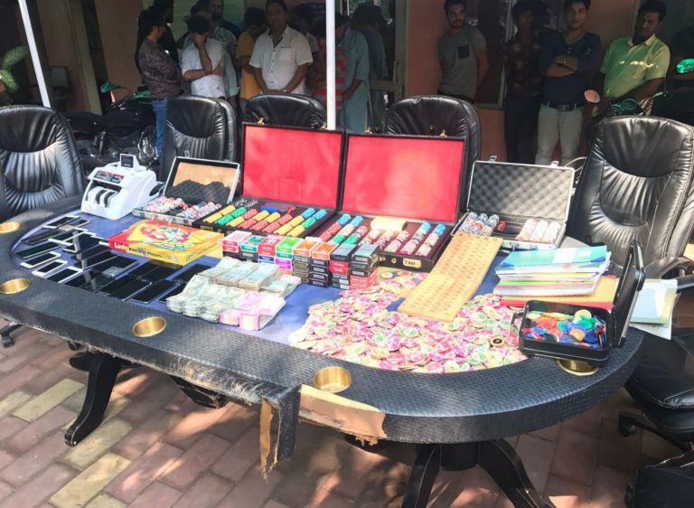 Indian model illegal gambling house