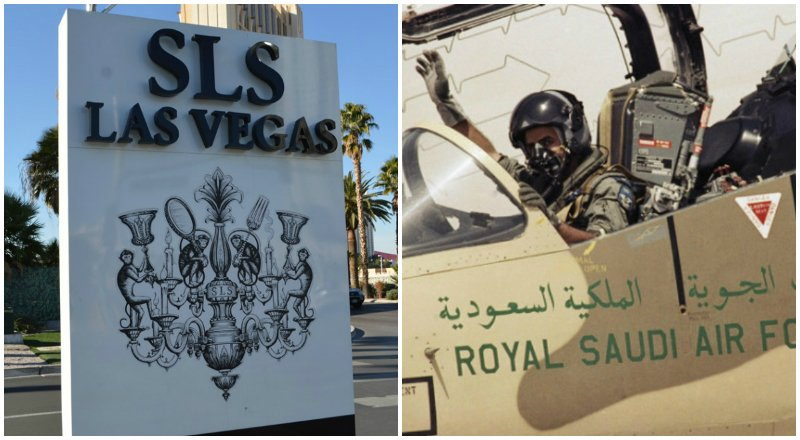 SLS Las Vegas Saudi Arabia air force