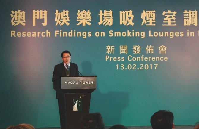 Macau smoking lounge China cigarettes