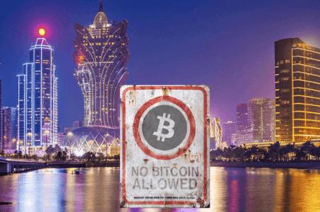 Macau authority Bitcoin business ban