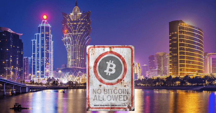 Macau authority Bitcoin business ban