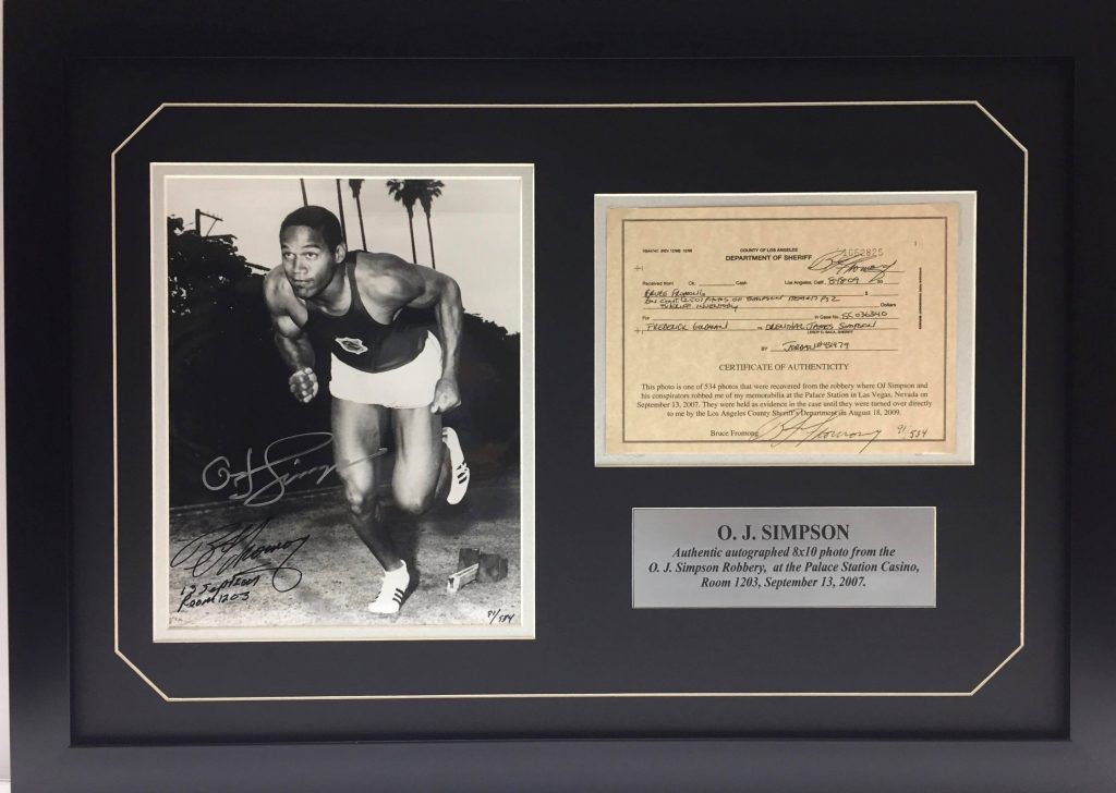 OJ Simpson memoribilia for sale