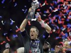 Tom Brady and the Vince Lombardi Trophy