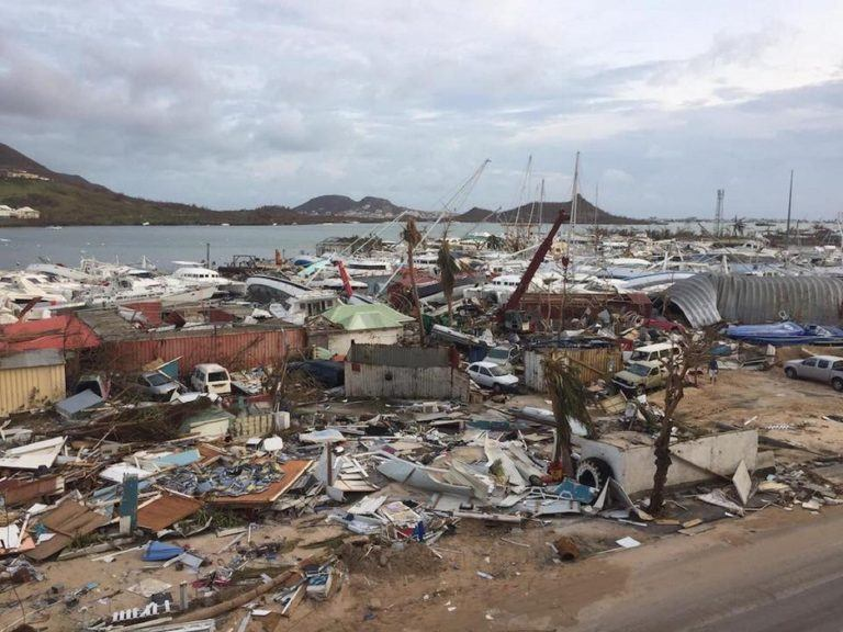 Barbuda, devastated by Hurricane Irma