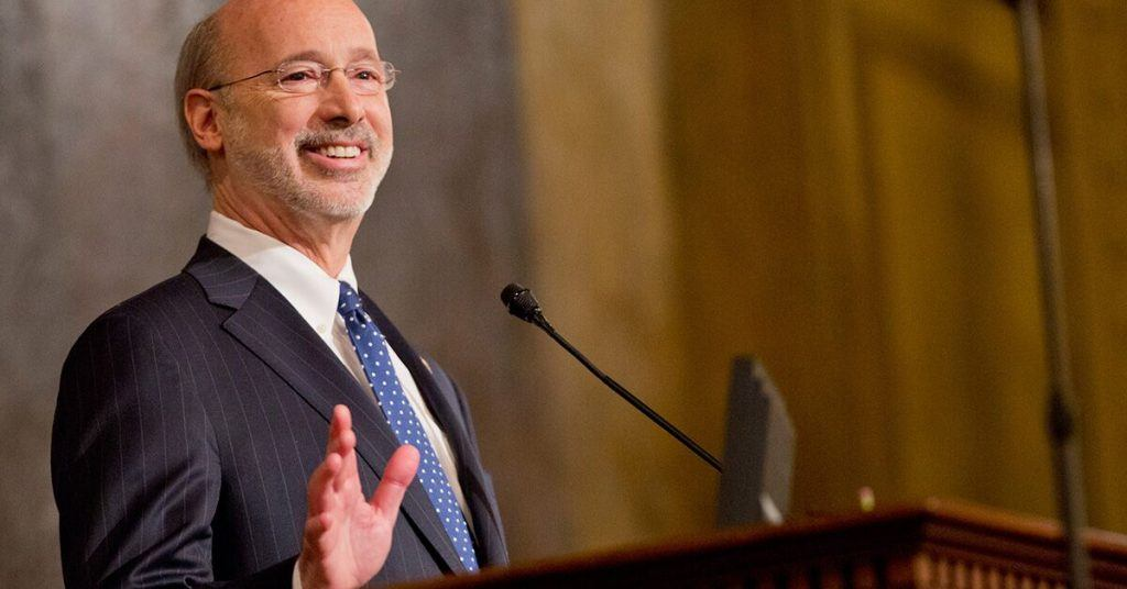 Pennsylvania Gov. Tom Wolf waiting for the House to resolve his budget woes.