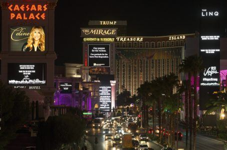 casino stocks Las Vegas shooting