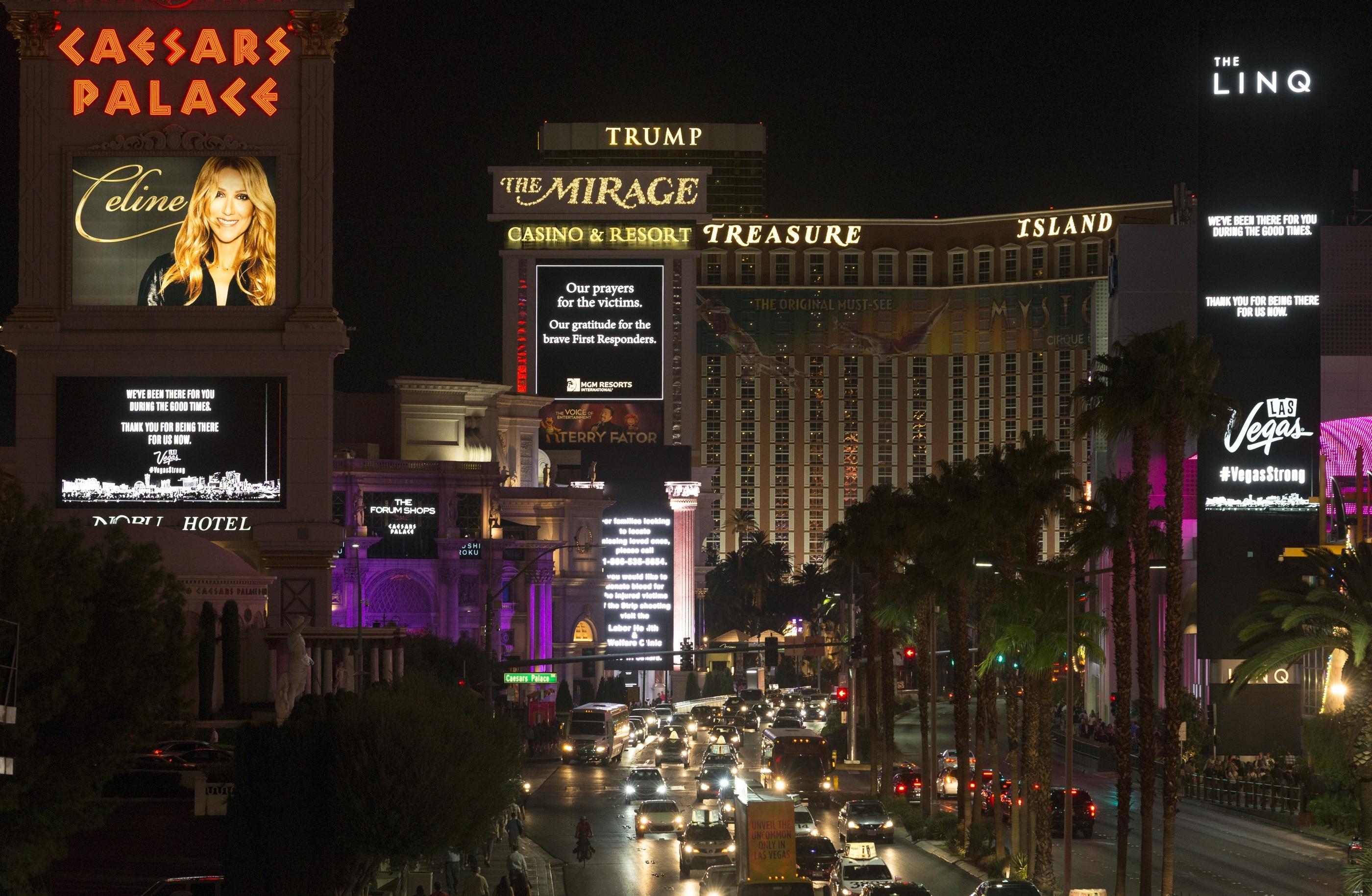 casino stocks Las Vegas shooting