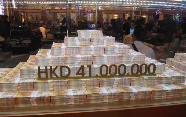 Macau VIP baccarat casino revenue
