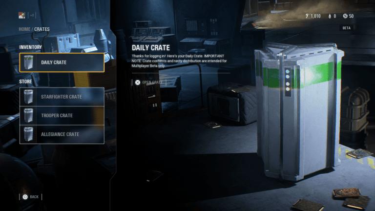 Star Wars Battlefront 2 loot box